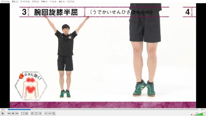 自衛隊体操 DVD 意識する筋肉