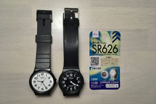 チープカシオ MQ-24 シチズン Q&Q 電池 SR626
