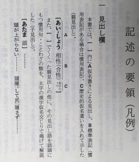 現代国語例解辞典 記述の要領