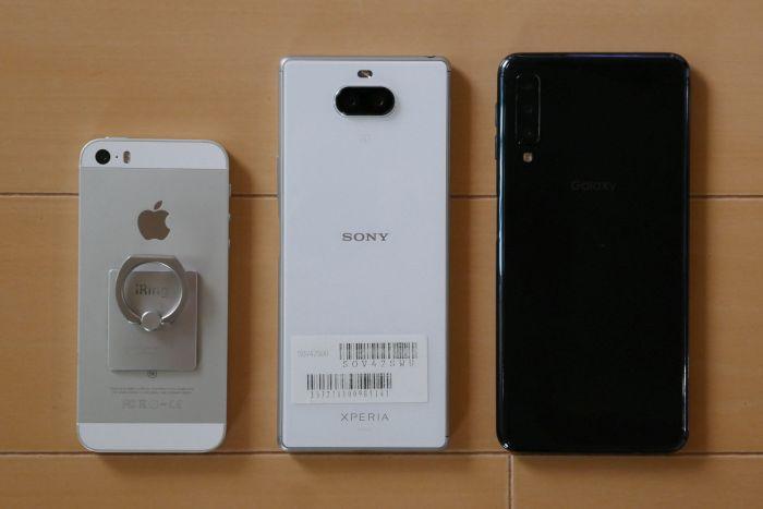 初代iPhone SE Xperia 8 Galaxy A7