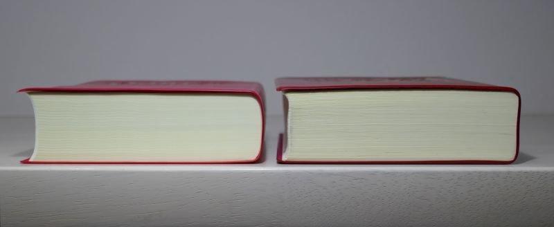 新明解国語辞典 第8版 第7版 厚さ比較