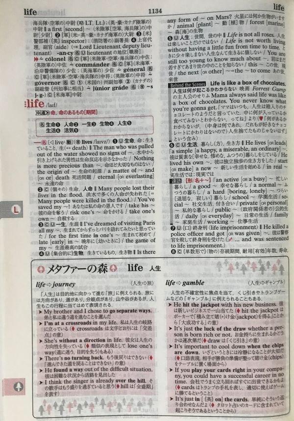 オーレックス英和辞典 紙面