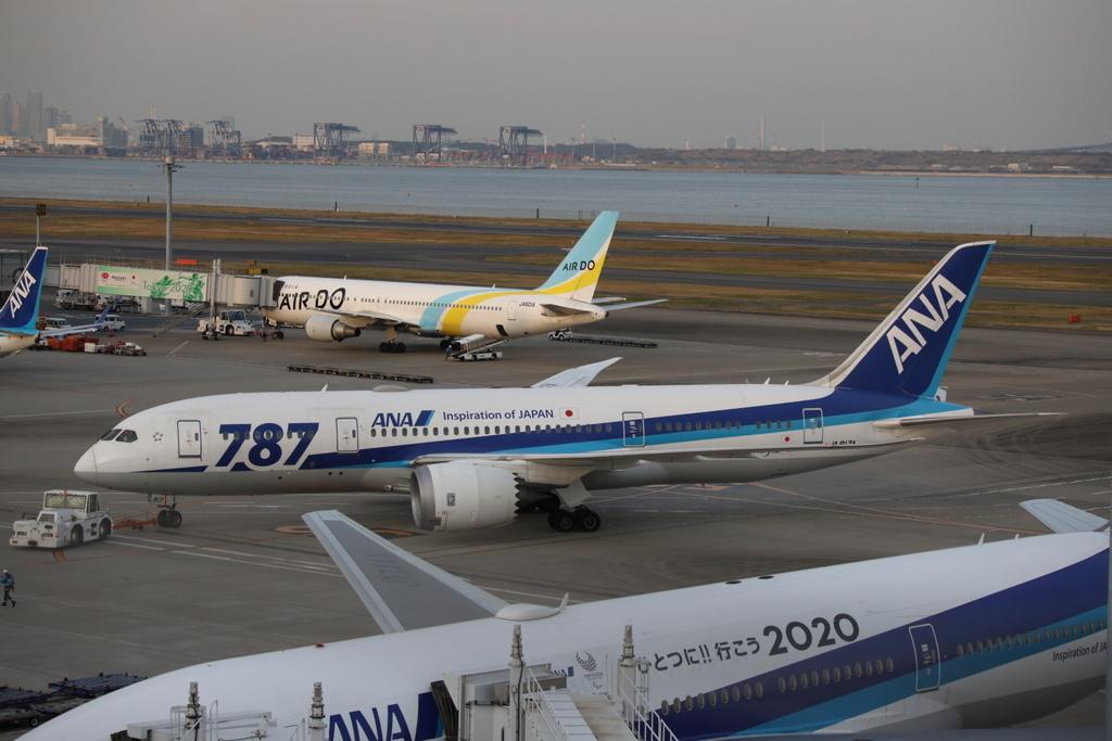 羽田空港第二ターミナルにて ANAおよびAIRDO機