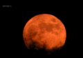「雲の向こうから昇る月」