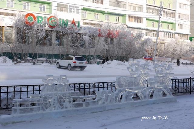 ヤクーツク市。「氷のトナカイ橇」