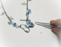 「今日の手作りアクセサリー:青い蝶々」