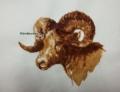 「香る絵:コーヒーで描いた山羊」