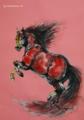「赤い目の馬:猛暑」