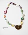 今日の手作りのネックレス:「アンモナイトと天然石の愛物語」