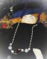 今日の手作りのネックレス:「アメティストとオパール」