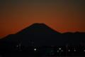 元日の富士山。夜の表情