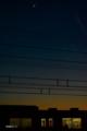 「元日の三日月と夜の電車」