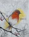 「小鳥と赤い木の実」