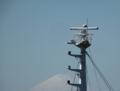 今日の富士山と船のレーダー