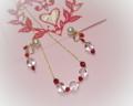 聖バレンタインの日のイメージ:水晶とパールのアクセサリー