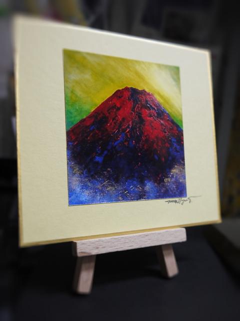 私の「赤富士」の小さなプリント