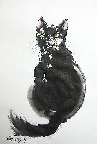 大好きな黒い猫