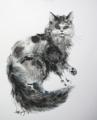 新作の一枚:「灰色の猫」
