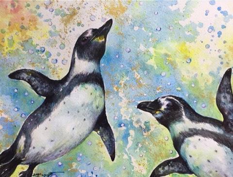 「空を飛ぶペンギン」