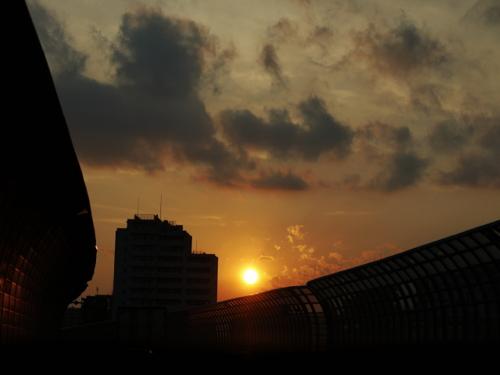 日曜日の夕陽