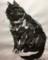 装飾のある黒い猫