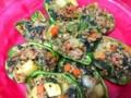 ロシア風、野菜たっぷり肉詰めピーマン