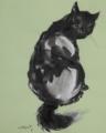 振り向くボス猫😁