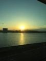 都内の夕日