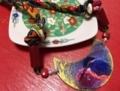 新作のネックレス「春の夢を見るカワセミ」
