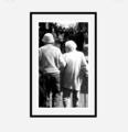 「老夫婦と桜の花」