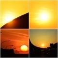 流星のような今日の夕陽。