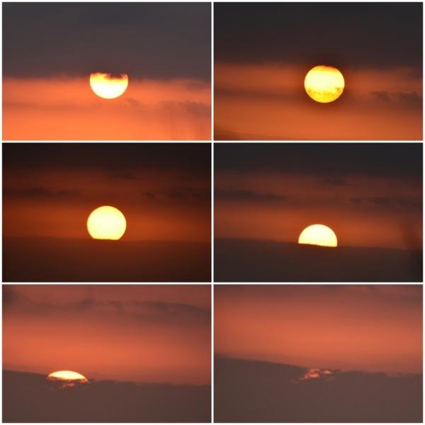 美しい夕陽が見れました!