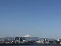今ゲートブリッジから見える富士山