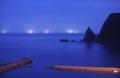 Blue on the blue 「Far Isaribi (遠い漁火)」 北海道積丹郡積丹町大字幌武意