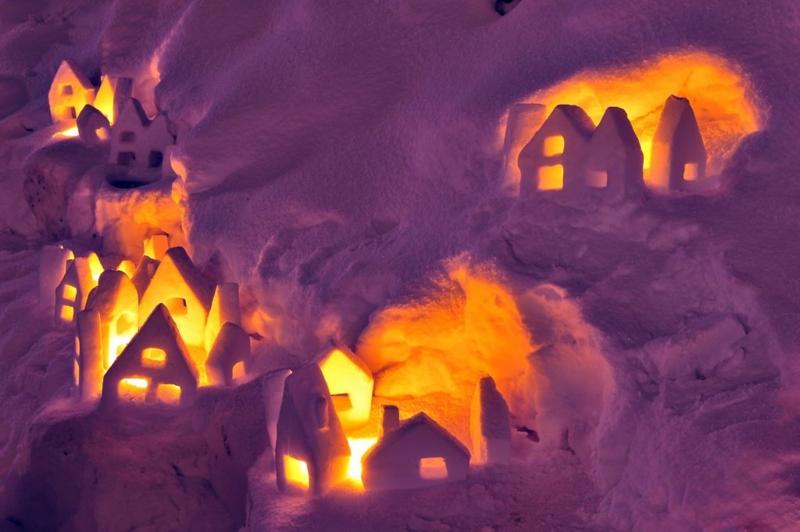 House of the icecake of the fairy tale 北海道 小樽市 小樽雪あかりの路 手宮線会