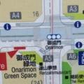 御成門緑地、地図