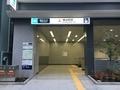 見慣れない感じの神谷町駅