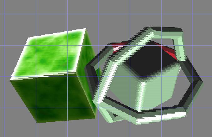 リアルタイム ソフトウェア3Dモデルレンダリング(インターレース