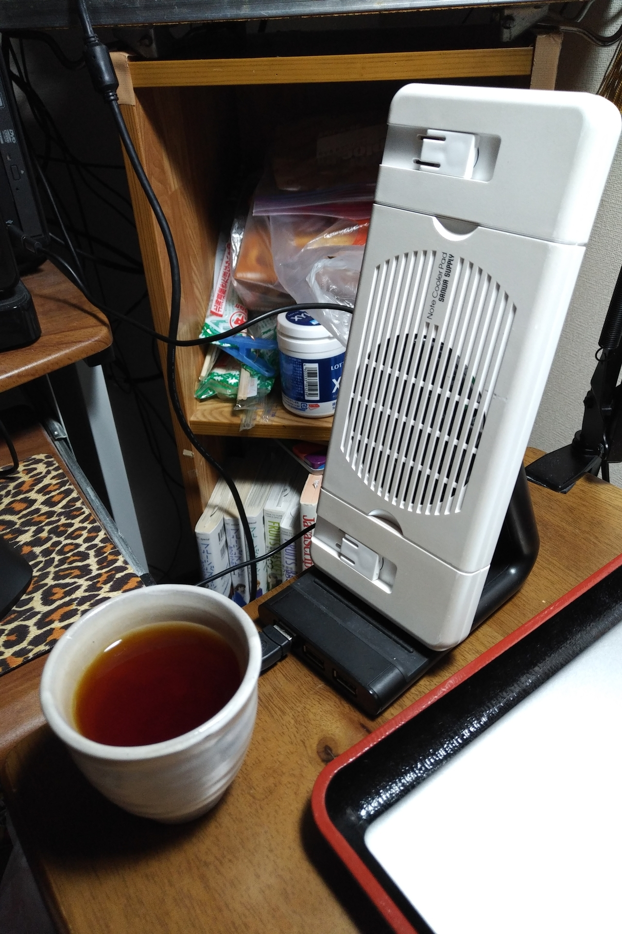 送風による茶の降熱