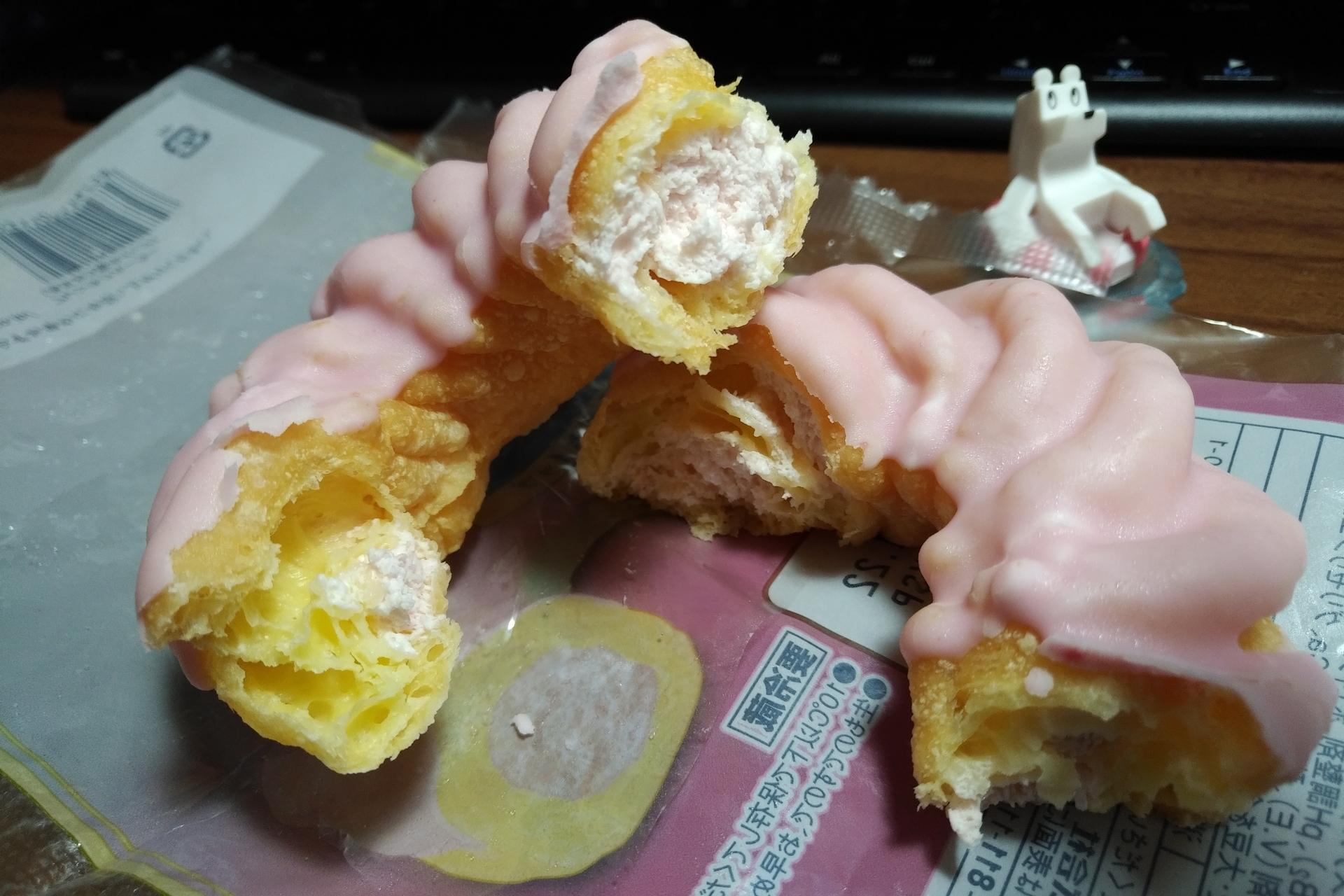 ヤマザキ フレンチクルーラー あまおう苺ホイップ