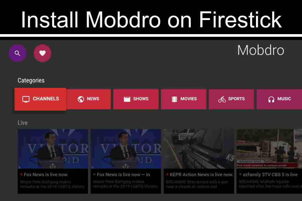 watch free streaming movies, sports, and live tv with mobdro on fire tv stick from amazon