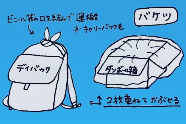 ビニール袋でバケツ