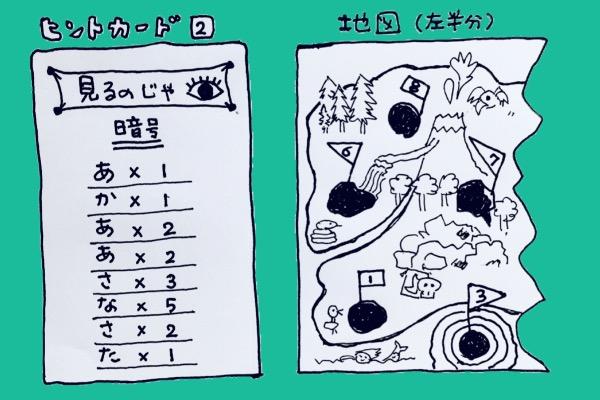 ヒントカード2⃣ 地図(半分)