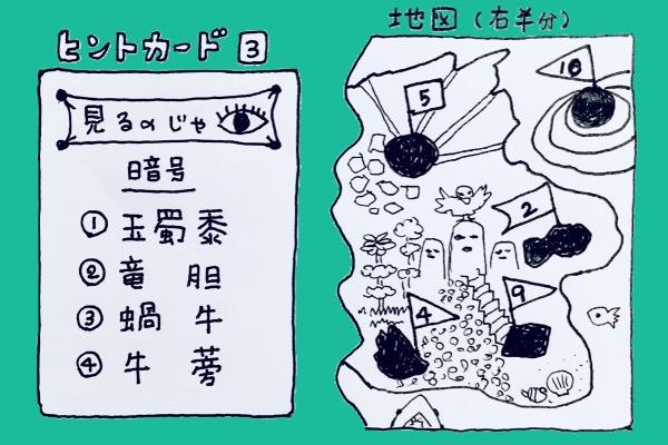 宝探し ヒントカード3⃣ 地図(半分)