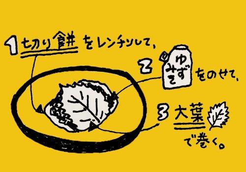 柚子味噌大葉餅
