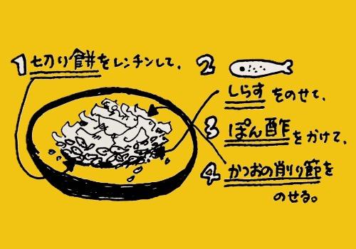 しらすポン酢餅