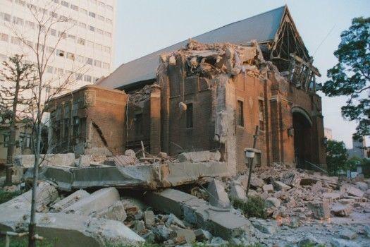 全壊した神戸栄光教会