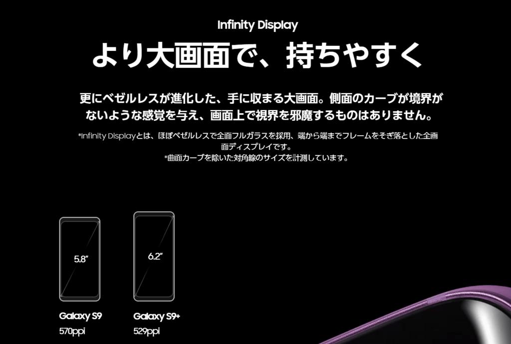 Galaxy S9+ ディスプレイ