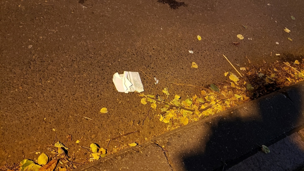 すすきの 道路 ゴミ