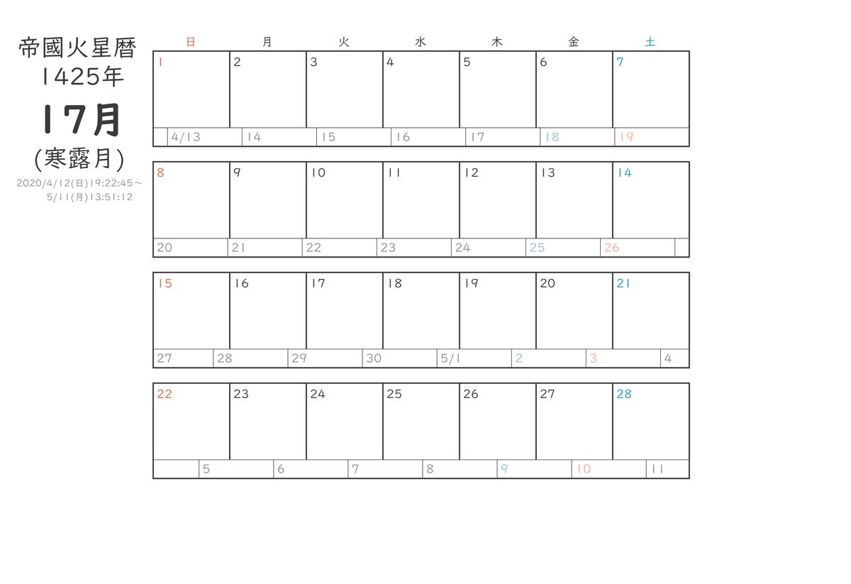 帝國火星曆1425年17月